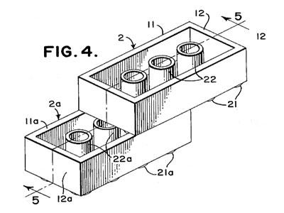design patent lego