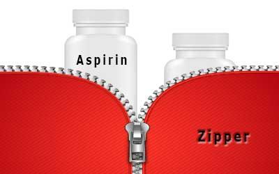 aspirin-and-zipper trademark strength