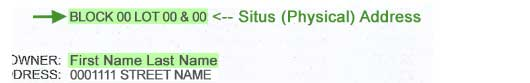 situs physical address location